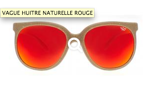 lunettes en huitre naturelle